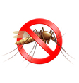 Stop mosquito sign isolated vector image