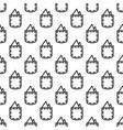 pocket square gentleman seamless pattern vector image