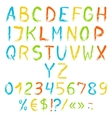 Painted english alphabet vector image