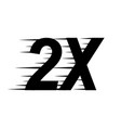 2x sign icon vector image vector image