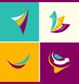 abstract arrows logos vector image