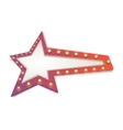 Abstract star red vector image