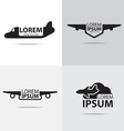 Airplane logo design vector image vector image