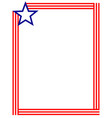 american flag symbols decorative frame border vector image vector image