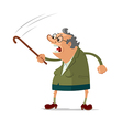 Angry old woman vector image