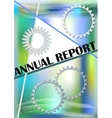 Annual report cover on abstract green and blue vector image