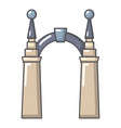 archway elf icon cartoon style vector image vector image