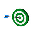 arrow hitting target symbol flat isometric icon vector image vector image