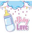 baby love cute card vector image vector image