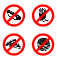 Ban fast food sign Stop unhealthy food It is vector image vector image