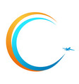 banner flight aircraft vector image