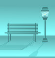 bench with lantern vector image vector image