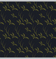 Black yellow seamless background pattern vector image