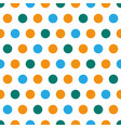 blue and orange polka dot polka dots dot dotted vector image