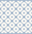 blue floral geometric seamless pattern vector image