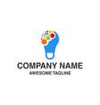 bulb lamp logo vector image vector image