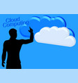 businessman and clouds vector image vector image