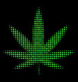 cannabis halftone icon vector image