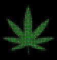 Cannabis halftone icon