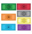 cartoon set money vector image vector image