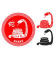 chinese zodiac symbol snake vector image vector image