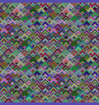 colorful geometric diagonal square tile mosaic vector image vector image