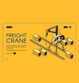 commercial cargo shipment service website vector image vector image