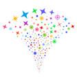 confetti stars fountain stream vector image vector image