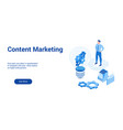 content marketing 3d template 2 vector image vector image