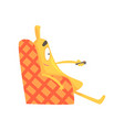cute funny banana sitting on armchair and watching vector image vector image
