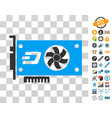 dash video gpu card icon with bonus vector image vector image