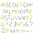 Decorative englis alphabet vector image vector image