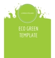 Eco green organic natural background vector image vector image