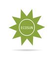 eco sun green vector image vector image
