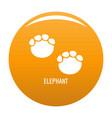 Elephant step icon orange