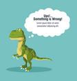 error 404 dinosaur theme vector image