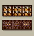 ethnic handmade ornament aztec geometric vector image vector image