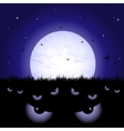Eyes at night vector image