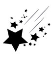 falling stars icon vector image vector image