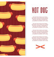 fast food banner design with hot dogs and sausage vector image