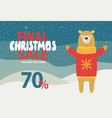 final christmas sale holiday discount promotion vector image