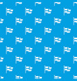 flag of sweden pattern seamless blue vector image vector image