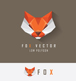 Fox business logo design vector image vector image
