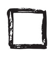 frame or text box grunge textured hand drawn vector image vector image