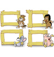 Frame with Cartoon Animal vector image vector image
