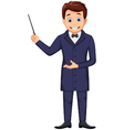 funny magician cartoon for you design vector image vector image