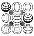 globe signs and icons set vector image vector image