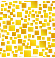 gold squares seamless pattern vector image vector image