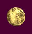 golden soccer football vector image vector image