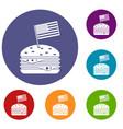 hamburger icons set vector image